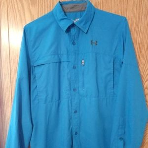 Under Armour Long-Sleeve Vented Button-Down Shirt